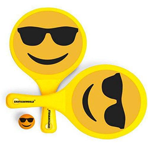 Emoticonworld  - Set Palas y Pelota Emoticono Gafas de Sol