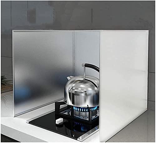 HSWYJJPFB Protector Salpicaduras Cocina Pantalla de Bienvenida Bloque de Aceite de Acero Inoxidable Barrera de Aceite Estufa de Cocina Uso de Restaurante Protector de Pantalla Anti-Splash Splatter g