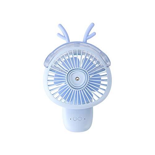 SmartDevil Spray Cooling kleine ventilator, klein draagbaar met luchtbevochtiger Hydraterend, oplaadbaar, stil, handheld desktop Dual-Use, mini USB Spray Hydrating Small Fan, (blauw)