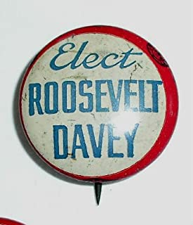 CAMPAIGN POLITICAL PINBACK BUTTON ELECT ROOSEVELT DALEY APPROX. 3/4