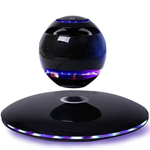 HCFSUK Altavoz Bluetooth Flotante con luz magnética LED Portátil Levitación 3D Sound Sound Maglev Spinning Sedabilidades Suspendidos Decoración de la Decoración Regalos