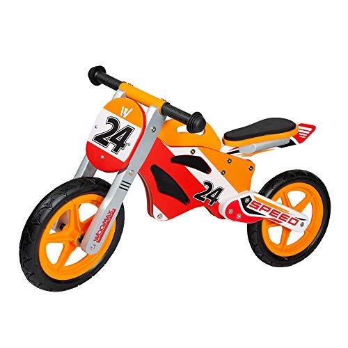 """WOOMAX - Bici sin pedales en madera Sport Bike 12"""" (ColorBaby 85371)"""