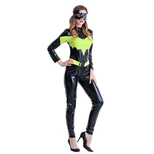 BCOGGGCaptain America - Disfraz de Halloween para mujer Endgame Cosplay Superhero Quantum Suit Batman Cos Capitán Women Body M Batman