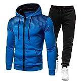 Aardich Otoño 2 Piezas Sportwear Conjunto Hombres Ropa para Hombre Camisetas Ocasionales + Pantalones 3D Impreso Sudaderas con Capucha para Hombre del chándal