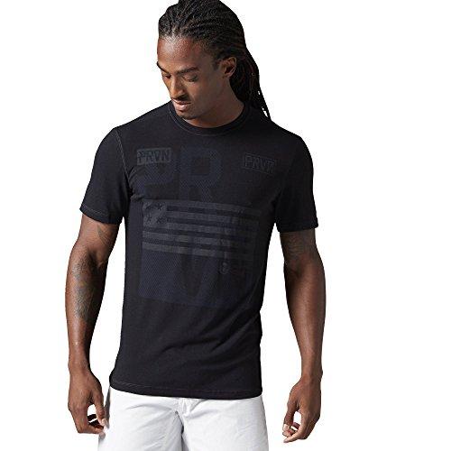 Reebok Crossfit Uomo Cool Soul Burnout T-Shirt, Black, XS, AI1341