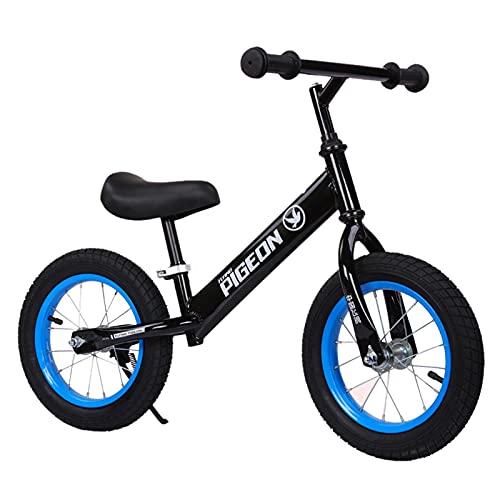 ERLAN Bicicletas sin Pedales Bicicleta de Equilibrio para Principiantes para Niños Pequeños (4 5 6 Años), Bicicleta de Entrenamiento Sin Pedal con Manillar y Asiento Ajustables, Ruedas de 12 Pulgadas