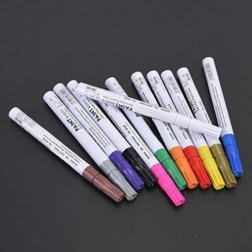 Pluma de marca de aguja popular, rotulador de graffiti blanco, colores brillantes, adecuado para pizarra,