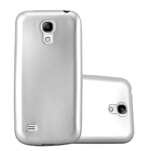 Cadorabo Hülle für Samsung Galaxy S4 Mini - Hülle in METALLIC Silber – Handyhülle aus TPU Silikon im Matt Metallic Design - Silikonhülle Schutzhülle Ultra Slim Soft Back Cover Case Bumper
