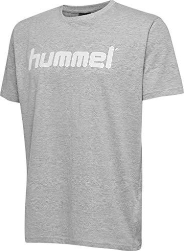 Hummel Hmlgo T-Shirt en Coton avec Logo pour Homme Gris mélangé Taille 3XL
