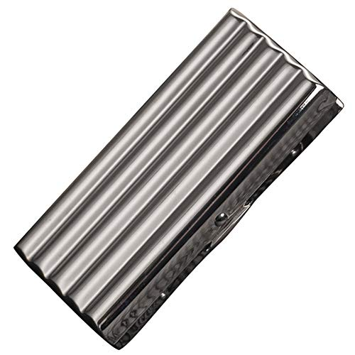 Exttlliy Creative Thin Portable Stainless Steel Pocket Carrying Cigarette Box Case for Holds 10 Regular Size Cigarettes (Not Included Cigarette)