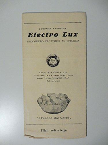 Societa' anonima Electro Lux, frigorifero elettrico automatico