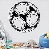 Bastante Fútbol Vinilo autoadhesivo para habitaciones de bebé, pegatinas de pared, decoración de sala de oficina, calcomanías de arte, 57 x 58 cm