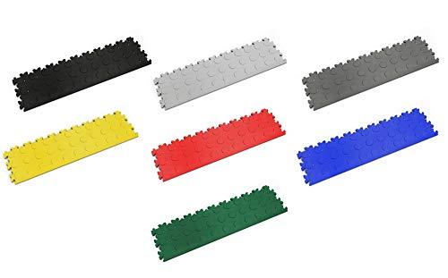 Fortelock PVC-Vinylfliese Abschluss/Auffahrrampe 2045 Noppen (Gelb)