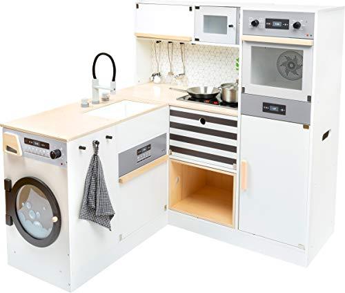 small foot 11464 Kinderküche modular XL aus Holz, multifunktionelle Spielküche mit verschiedenen Aufbaumöglichkeiten