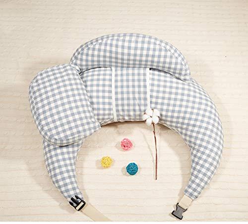 GAOLEI1 Oreiller d'allaitement 100% Coton Doux pour la Peau et Respirant Librement Ajustable 15 ° Design incurvé Amovible et Lavable pour Post-Partum Coussin d'allaitement