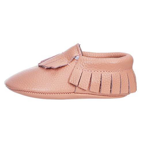 Baby Mokassins Leder Krabbelschuhe Quasten Kinder Baby Schuhe 0-3T (22/23 EU, Pink Quaste)