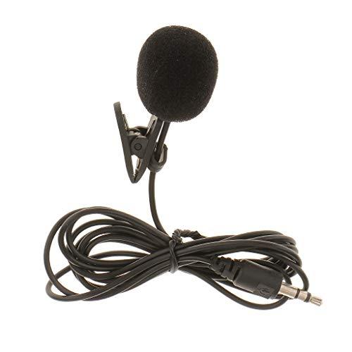 UOEIDOSB Micrófono de Solapa Lavalier con Enchufe de 3,5 mm Micrófono con Clip de Corbata con Cable para computadora portátil PC DSLR Cámara de acción Teléfono móvil Mic