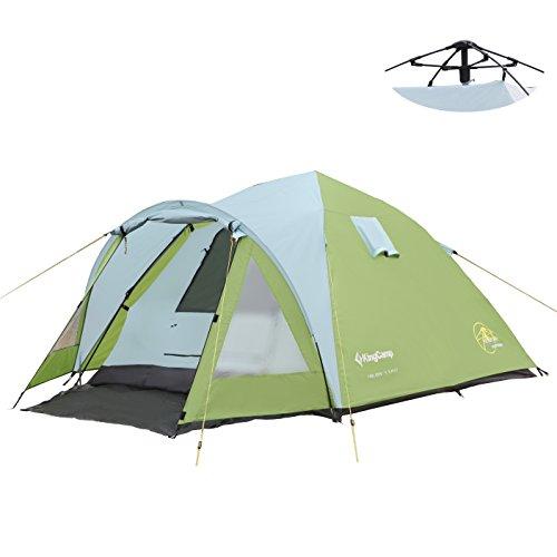 KingCamp - Tienda de campaña de 3 Estaciones, fácil hasta 3000 mm, Impermeable, Resistente al Fuego para Camping, Senderismo, Familia (3 Manos)
