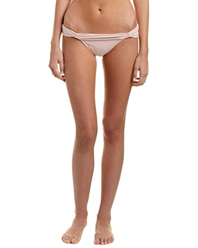 Vix Women's Rose Water Bia Tube Full Coverage Bikini Bottom, Light Pink, XS
