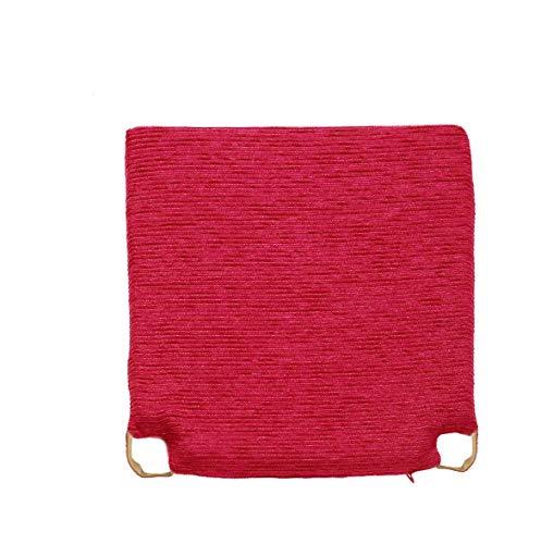 Arcoiris Pack 6 Almohadillas para sillas Cojines 40x40cm, Relleno de Fibra y Espuma, Cómodos, Resistentes, Fácil de Limpiar, para Cocina, Cuarto, Sala, Jardín, Terraza, Patio (Rojo, Fantasy)