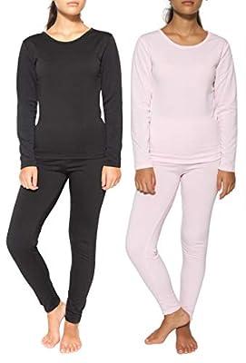 2 Pack: Womens Thermal Underwear Set Thermal Underwear for Women Fleece Lined Legging Long Johns Skiing Apparel-Set 4,XL