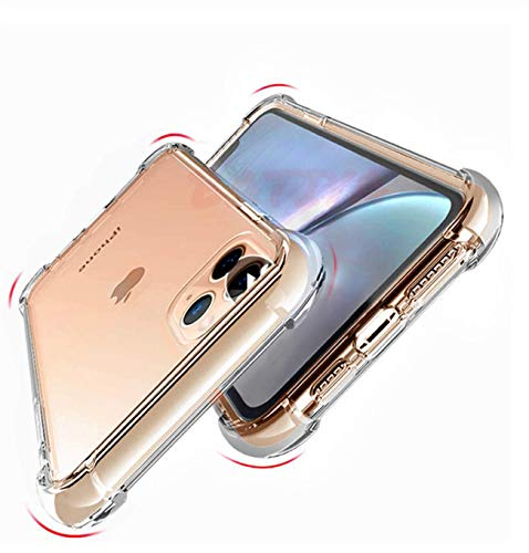 Clear Shockproof Transparent Phone Case Cover Protection Back Cover for iPhone 11 Phone Case X XR XS Max iPhone 11 Pro Max Case Cover (for iPhone XR)