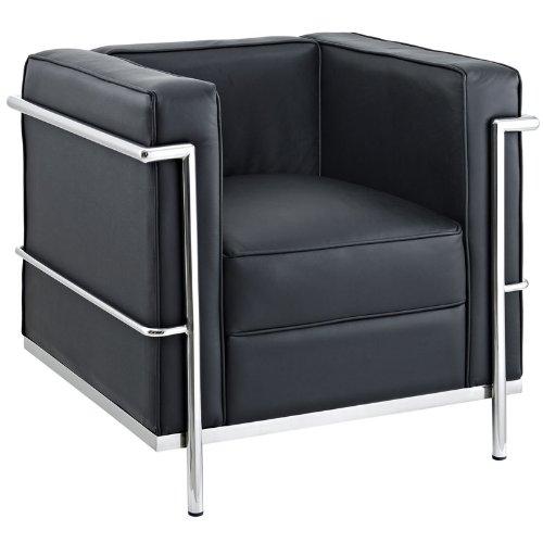 AG Charles Le Corbusier LC2 Petit Confort Stuhl, 76,2 cm, Schwarz