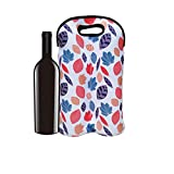 QAZSE 2-Bottle Wine Bag Reusable Tote Carrier Neoprene Thicken Durable Insulated Champagne...