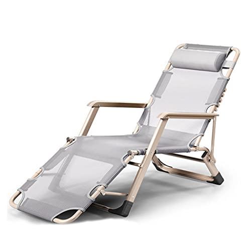 YYL Zero Gravity Recliner Lounge Chair, Klappbarer Patio-Rasen-Poolstuhl mit Kopfstütze für Outdoor Camping Garden Patio Rasen (Color : Grey)