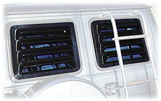 ECP-AUTOTEILE fit for 08+Challenger GT//SRT//R//T Coupe Rear Car Window Quarter Louvers Sun-Shade Matte Black Ready to Paint