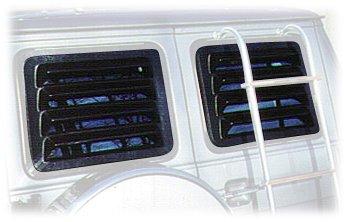 Willpak Industries 2009 ABS Van Rear Window Louver for Dodge