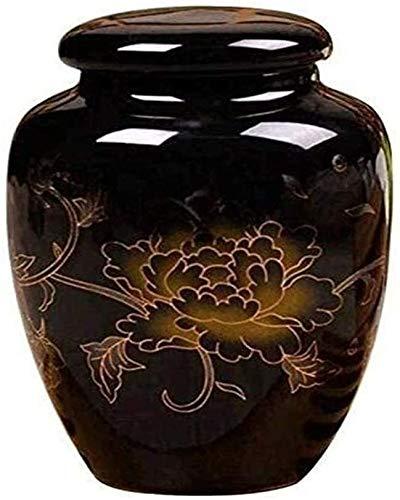 Volwassen keramische as volwassen Urn keramische crematie Urn menselijke of huisdier as begraven Urn op of kantoor display begrafenis Urn as opbergdoos (Maat: zwart), Grootte: rode begrafenis benodigdheden