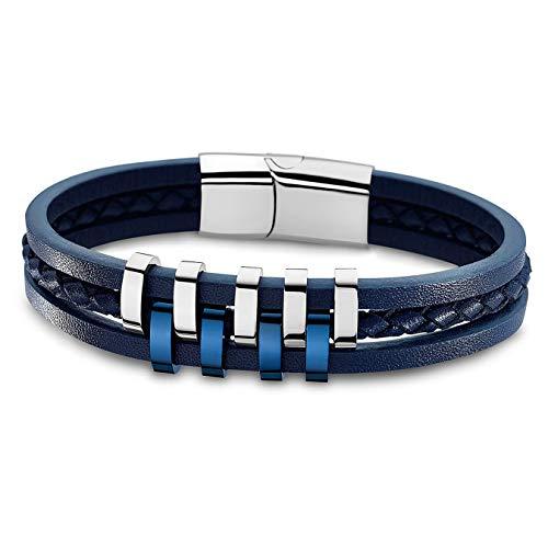 Lotus Style Bracelet Homme Cuir & Acier LS1838-2/2
