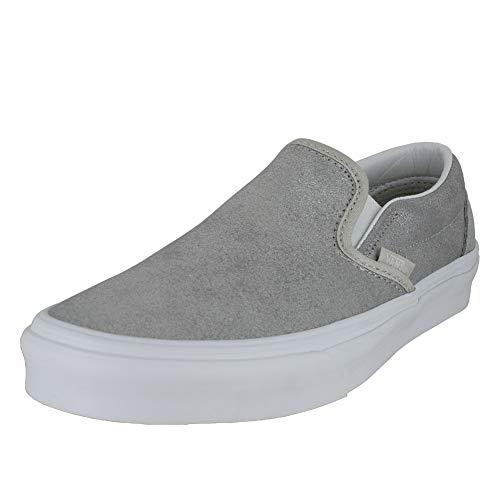 Vans Mens U Clasic Slip ON Silver Size 7.5