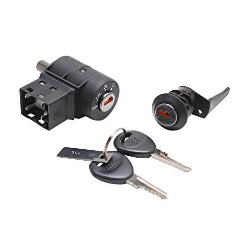 P2R (gemotoriseerd) sleutelschakelaar voor scooter, aanpasbaar, Peugeot 50 Buxy, Speeddake, Zenith, Fox (AVEC zadelslot) -P2R