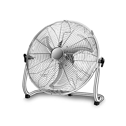 IINSSDJ Ventilador Industrial De Alta Velocidad, Ventiladores De Piso De Metal De Servicio Pesado De 3 Velocidades, para Garaje, Tienda, Comercial, Residencial, Refrigeración Personal, 21 Pulgadas