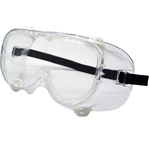 Vollsicht-Schutzbrille EN 166 (VE 10 oder 200 STK) Augenschutz-Brille mit Belüftungsventil (10)