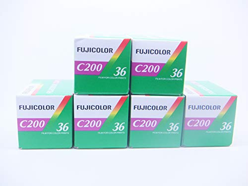 FUJICOLOR C200Fotofilm 35mm 36Belichtung Farbe Kamera Film, 6Stück
