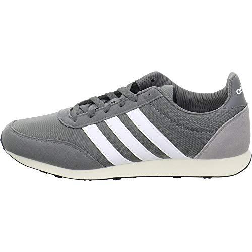 adidas V Racer 2.0 Zapatillas de Running Hombre, Gris (Grey Four F17/Ftwr White/Light Granite Grey Four F17/Ftwr White/Light Granite), 42 EU (8 UK) 🔥