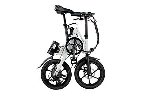 Kwikfold 2019 Xite-3A Elektrofahrräder, Elektro-Faltrad, Elektro-Klapprad, Ebike, Pedelec, 16 Zoll, Shimano 7 Gang (Weiß)