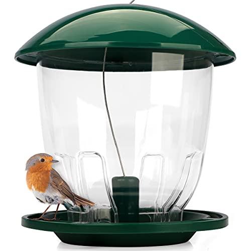 WILDLIFE FRIEND I Vogelfutterspender XL zum Aufhängen 1 kg I Vogelfutterstation für Wildvögel I Vogel Futterstation, Futterspender Vögel, Vogelfutterhaus, Vogelfutter, Bird Feeder