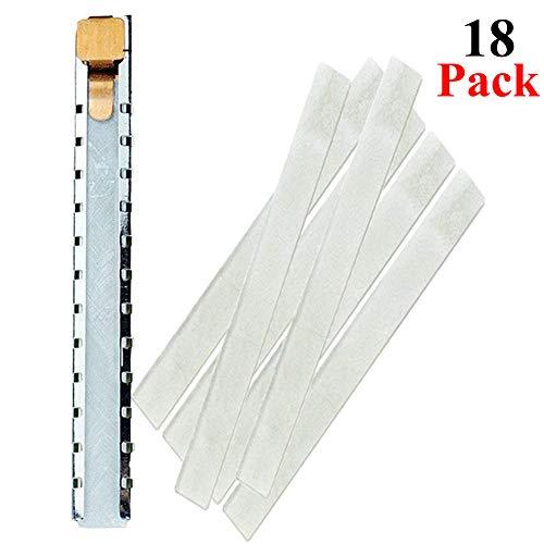 Flacher Speckstein-Halter mit 18 flachen Specksteinen, für Schweißgeräte, Textilmarkierwerkzeuge, zum Herstellen von Markierungen auf Stahl, Gusseisen