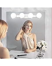Dimbaar make-uplicht met batterijvoeding, USB-oplaadbaar, draadloze led-spiegellamp, draagbaar make-uplicht voor make-uptafelverlichting