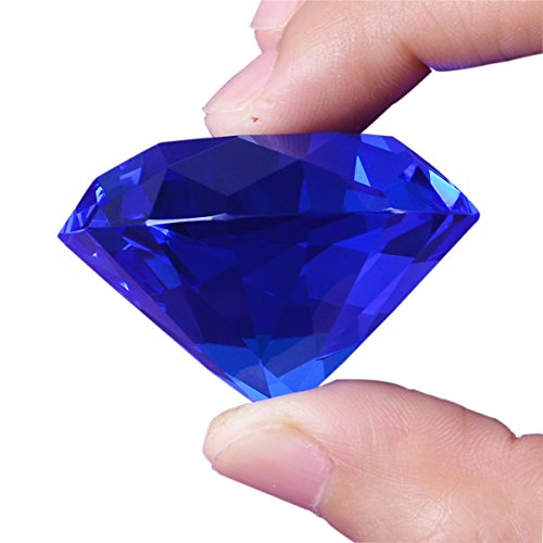 Longwin Lot de 10 diamants de cristal 40 mm de largeur, bleu