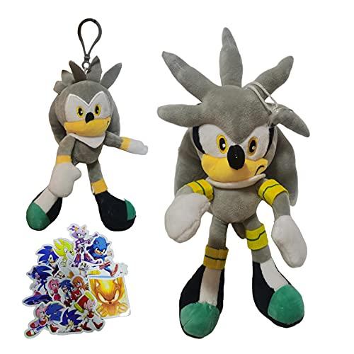 MIAOGO Llavero juguetes suaves Sonic Super Sonic Mouse Sonic Kid llavero joyería colgante pequeño regalo muñeca