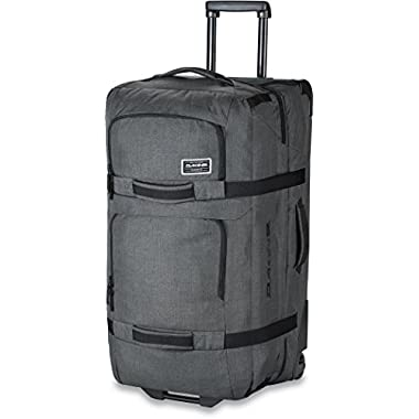 Dakine - Unisex Split Roller Luggage Bag - Durable Construction - Split-Wing Collapsible Brace Level - Exterior Quick Access Pockets (Carbon, 110L)
