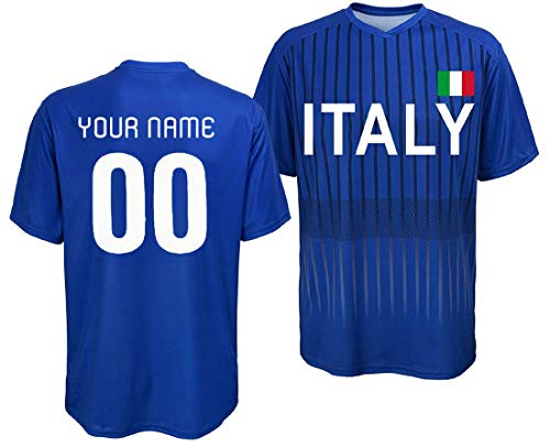Custom Italy Jersey - Adult and Youth (Large) Royal Blue