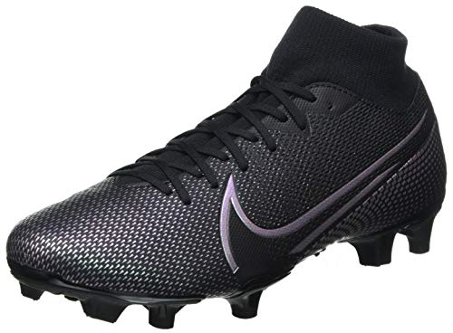 Nike Unisex Superfly 7 Academy Fg/Mg Football Shoe, Black/Black, 46 EU