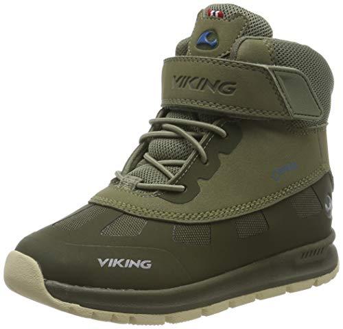 Viking Ted GTX, Botas de Nieve Unisex Niños, Verde (Olive/Olive 3737), 30 EU