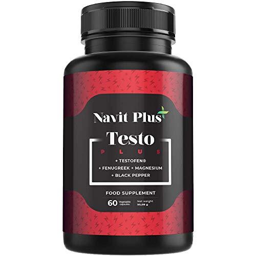 TESTOSTERONE EXTREME. Massima prestazione maschile. TESTOFEN + Ginseng, Zinco, Maca. Booster di testosterone. Aumenta la massa muscolare e l\'energia. 60 capsule vegetali.